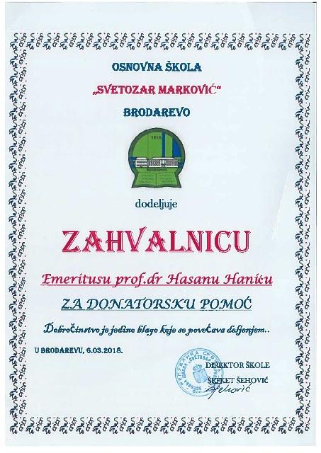 Zahvalnica Brodarevo 001